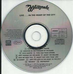 Whitesnake: Live... In The Heart Of The City (CD) - Bild 3