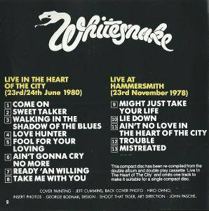 Whitesnake: Live... In The Heart Of The City (CD) - Bild 4