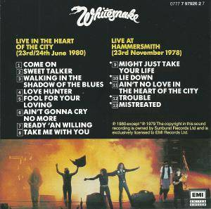 Whitesnake: Live... In The Heart Of The City (CD) - Bild 9