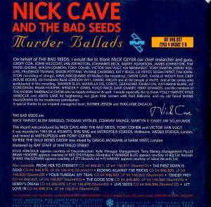 Nick Cave And The Bad Seeds: Murder Ballads (CD) - Bild 2