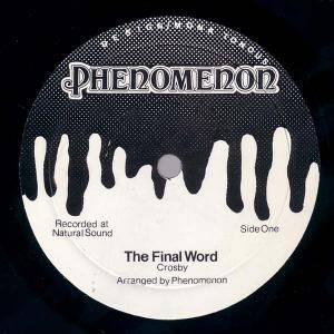 Phenomenon: Final Word, The - Cover