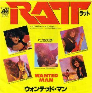 Ratt: Wanted Man - Cover