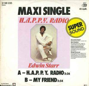 Edwin Starr: H.A.P.P.Y. Radio - Cover