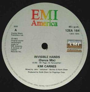 Kim Carnes: Invisible Hands - Cover