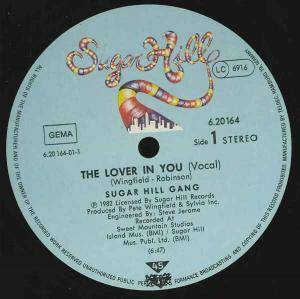 The Sugarhill Gang: Lover In You, The - Cover