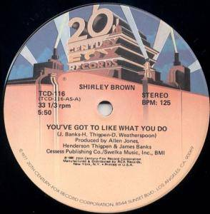 Cover - Shirley Brown: You've Got To Like What You Do