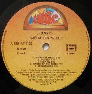 Anvil: Metal On Metal (LP) - Bild 3