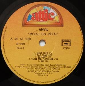 Anvil: Metal On Metal (LP) - Bild 4