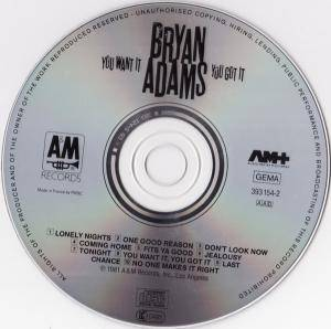 Bryan Adams: You Want It You Got It (CD) - Bild 3