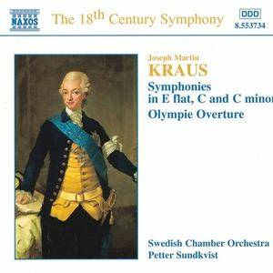 Cover - Joseph Martin Kraus: Symphonies - Olympic Overture