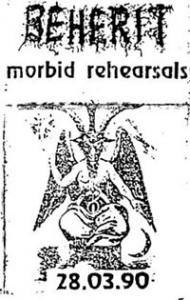 Cover - Beherit: Morbid Rehearsals