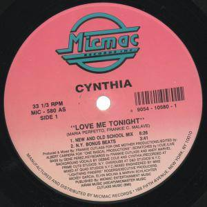 Cover - Cynthia: Love Me Tonight