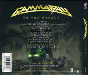 Gamma Ray: To The Metal! (CD + DVD) - Bild 2