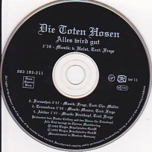 Die Toten Hosen: Alles Wird Gut (Single-CD) - Bild 2