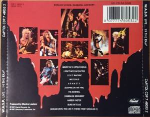 W.A.S.P.: Live... In The Raw (CD) - Bild 2