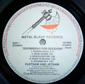 Flotsam And Jetsam: Doomsday For The Deceiver (LP) - Bild 2