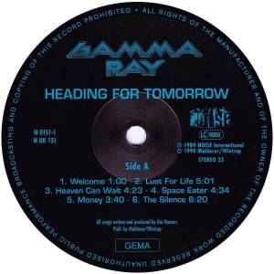 Gamma Ray: Heading For Tomorrow (LP) - Bild 5