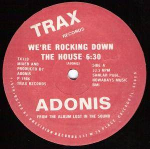 Cover - Adonis: We're Rocking Down The House