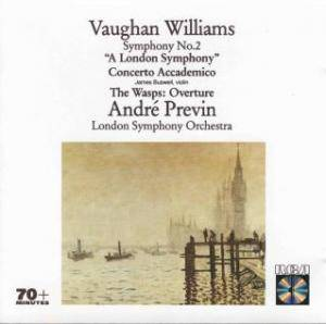 "Cover - Ralph Vaughan Williams: Symphony No.2 ""A London Symphiny""; Concerto Accademico; The Wasps: Overture"