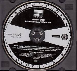 Johnny Cash:American VI: Ain't No Grave - CD, 2010 Johnny Cash American Recordings Vi