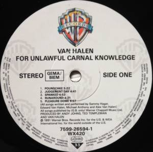 Van Halen: For Unlawful Carnal Knowledge (LP) - Bild 3