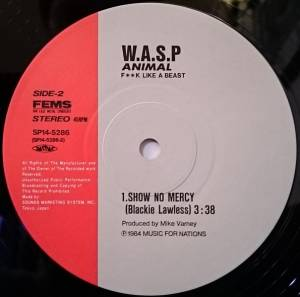 "W.A.S.P.: Animal (F**k Like A Beast) (12"") - Bild 4"