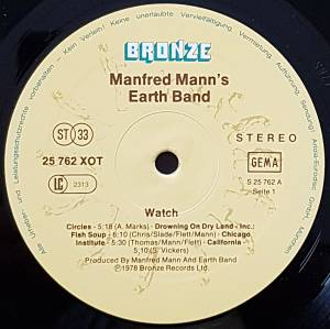 Manfred Mann's Earth Band: Watch (LP) - Bild 3