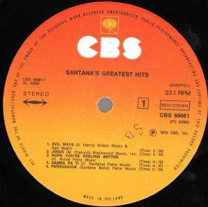 Santana: Santana's Greatest Hits (LP) - Bild 3