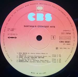 Santana: Santana's Greatest Hits (LP) - Bild 4