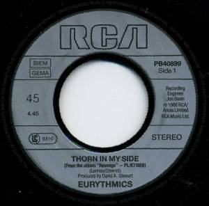 "Eurythmics: Thorn In My Side (7"") - Bild 3"