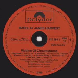 Barclay James Harvest: Victims Of Circumstance (LP) - Bild 5