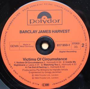 Barclay James Harvest: Victims Of Circumstance (LP) - Bild 6