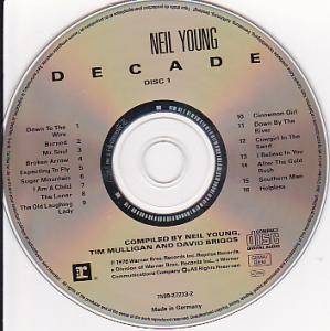 Neil Young / Neil Young & Crazy Horse / Buffalo Springfield / Crosby, Stills, Nash & Young / The Stills-Young Band: Decade (Split-2-CD) - Bild 3