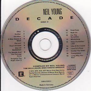 Neil Young / Neil Young & Crazy Horse / Buffalo Springfield / Crosby, Stills, Nash & Young / The Stills-Young Band: Decade (Split-2-CD) - Bild 4
