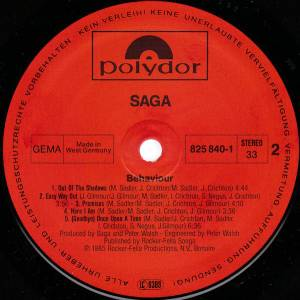Saga: Behaviour (LP) - Bild 6