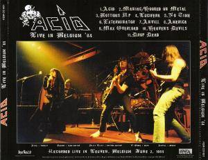 Acid: Live In Belgium '84 (CD) - Bild 3