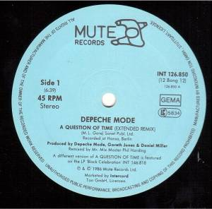 "Depeche Mode: A Question Of Time (12"") - Bild 3"
