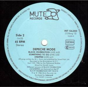 "Depeche Mode: A Question Of Time (12"") - Bild 4"