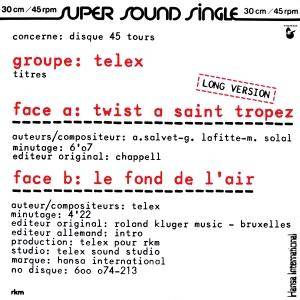 Cover - Telex: Twist A Saint Tropez