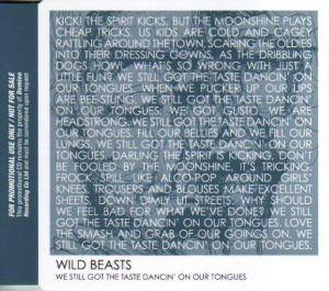 Cover - Wild Beasts: We Still Got The Taste Dancin' On Our Tongues