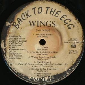 Wings: Back To The Egg - LP (1979)