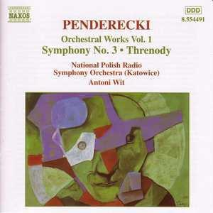 Krzysztof Penderecki: Orchestral Works Vol. 1 - Cover