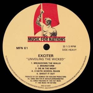 Exciter: Unveiling The Wicked (LP) - Bild 5