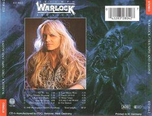 Warlock: Triumph And Agony (CD) - Bild 2