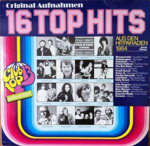 Cover - Frank Stallone: Club Top 13 - 16 Top Hits / Januar/Februar 1984