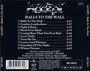 Accept: Balls To The Wall (CD) - Bild 3