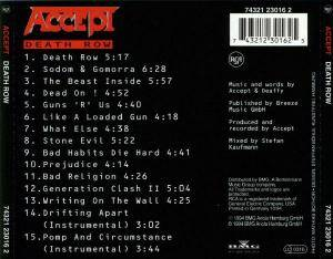 Accept: Death Row (CD) - Bild 2