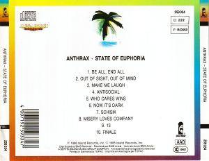Anthrax: State Of Euphoria (CD) - Bild 3
