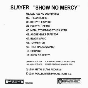 Slayer: Show No Mercy (CD) - Bild 2