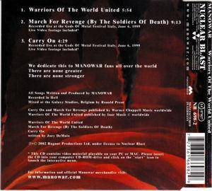 Manowar: Warriors Of The World United (Single-CD) - Bild 2
